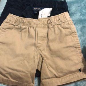 2 pairs of polo shorts/ 1 pair of slacks
